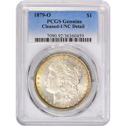 1879-O VAM-3. Doubled Closed 9. Rarity-2. Genuine – Cleaned – Uncirculated Details PCGS.
