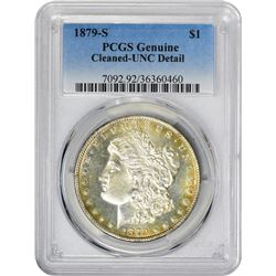 1879-S VAM-36. Cootie Impression on Jaw. Rarity-5. Genuine – Cleaned – Uncirculated Details PCGS.