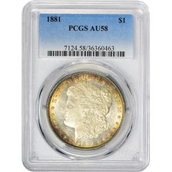 1881 VAM-1. Normal Dies. Rarity-2. AU-58 PCGS.