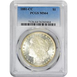 1881-CC VAM-1. Normal Dies. Rarity-2. MS-64 PCGS.