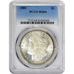 1882 VAM-1. Closed 2. Rarity-1. MS-64 PCGS.