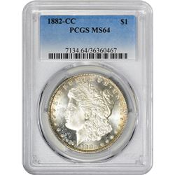 1882-CC VAM-3. Spiked Wing. Rarity-3. MS-64 PCGS.