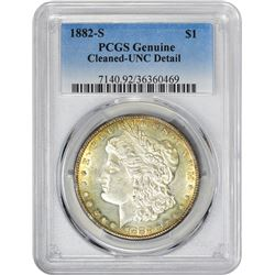 1882-S VAM-Uncertain. Genuine – Cleaned – Uncirculated Details PCGS.