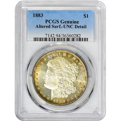 1883 VAM-Uncertain. Genuine – Altered Surfaces – Uncirculated Details PCGS.