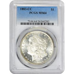 1883-CC VAM-1. Normal Dies. Rarity-2. MS-64 PCGS.