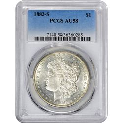 1883-S VAM-Uncertain. AU-58 PCGS.