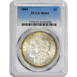 1884 VAM-3. Large Dot. Rarity-4. MS-62 PCGS.