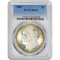 1885 VAM-1. Normal Dies. Rarity-1. MS-63 PCGS.