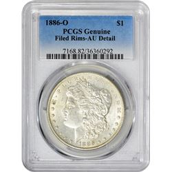 1886-O VAM-15. O Set Right. Rarity-3. Genuine – Filed Rims – AU Details PCGS.