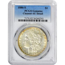 1886-S VAM-1. Normal Dies. Rarity-3. Genuine – Cleaned – AU Details PCGS.