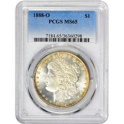 1888-O VAM-9. Doubled Arrows, Doubled Wreath, 18-8 in Denticles. Rarity-5. MS-65 PCGS.
