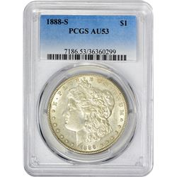 1888-S VAM-1. Normal Dies. Rarity-3. AU-53 PCGS.