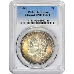 1889 VAM-Uncertain. Genuine – Cleaned – Uncirculated Details PCGS.