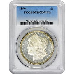 1890 VAM-13. Far Date. Rarity-1. MS-63 DMPL PCGS.