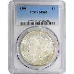 1898 VAM-6. Doubled First 8. Rarity-3. MS-62 PCGS.