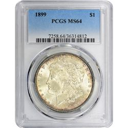 1899 VAM-6. Open and Closed 9s. Rarity-5. MS-64 PCGS.