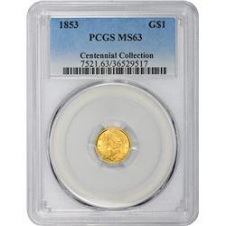 1853 MS-63 PCGS.
