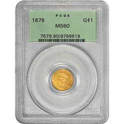 1878 MS-60 PCGS. OGH.