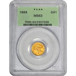 1889 MS-63 PCGS. OGH.