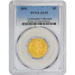1856 AU-53 PCGS.