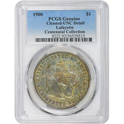 1900 Lafayette $1. Genuine – Cleaned – Uncirculated Details PCGS.