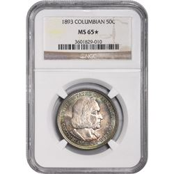1893 Columbian Exposition 50¢. MS-65* NGC.
