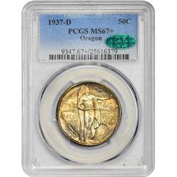 1937-D Oregon Trail Memorial 50¢. MS-67+ PCGS. CAC.