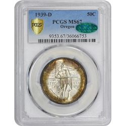 1939-D Oregon Trail Memorial 50¢. MS-67 PCGS. CAC.