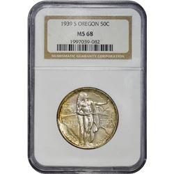 1939-S Oregon Trail Memorial 50¢. MS-68 NGC.