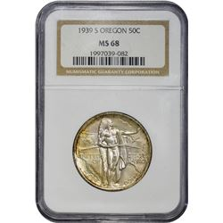 1939-S Oregon Trail Memorial 50¢. MS-68 NGC.