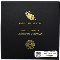 Lot of three 2016 United States Mint Gold Centennial coins struck at West Point in original governme