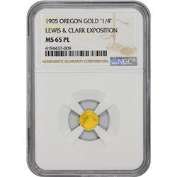 """Oregon. Portland. 1905 Lewis & Clark Exposition. """"1/4"""" Denomination. MS-65 PL NGC."""