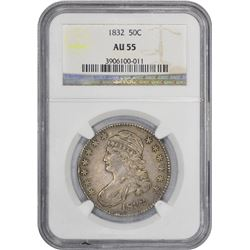 1832 O-111. Small Letters. Rarity-1. AU-55 NGC.