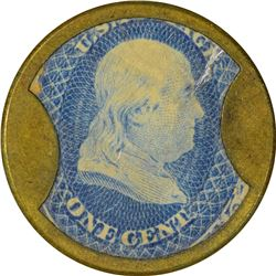 Take Ayer's Pills. 1 Cent. HB-17, EP-3, S-8. Choice About Uncirculated.