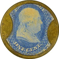 Ayer's Sarsaparilla. 1 Cent, Medium Ayer's. HB-28, EP-4a, S-13. About Uncirculated.