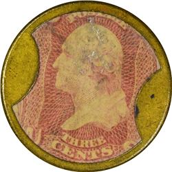 Ayer's Sarsaparilla. 3 Cents, Small Ayer's. HB-29, EP-34, S-15. Choice About Uncirculated.