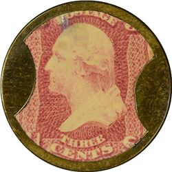 Ayer's Sarsaparilla. 3 Cents, Large Ayer's. HB-32, EP-34b, S-15b. Extremely Fine.