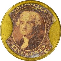 Dougan. 5 Cents. HB-98, EP-73, S-68. Choice About Uncirculated.