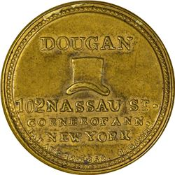 Dougan. 5 Cents. HB-98, EP-73, S-68. About Uncirculated.