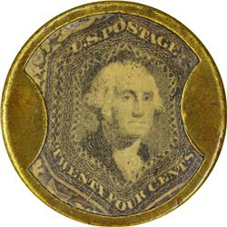 J. Gault. 24 Cents, Plain Frame. HB-137, EP-167, S-99. Choice About Uncirculated.