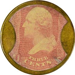 Irving House, Hunt & Nash. 3 Cents. HB-149, EP-49, S-107. About Uncirculated.