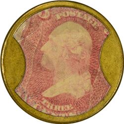 Lord & Taylor. 3 Cents. HB-169, EP-51, S-122. Choice About Uncirculated.