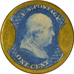 Mendum's Family Wine Emporium. 1 Cent. HB-176, EP-21, S-129. Choice About Uncirculated.