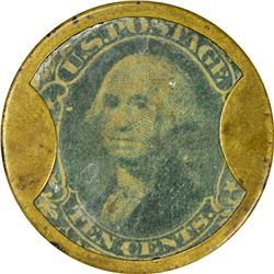 John W. Norris. 10 Cents. HB-187. EP-124, S-139. Very Fine.