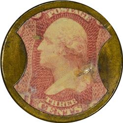 Schapker & Bussing. 3 Cents. HB-212, EP-55, S-156. Extremely Fine.
