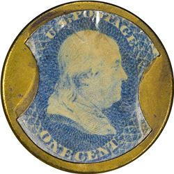 N & G Taylor & Co. 1 Cent. HB-225, EP-28, S-169. Extremely Fine-About Uncirculated.
