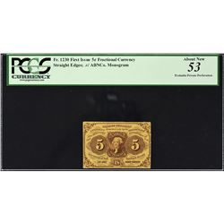 Lot of (4) First Issue. Frational Currency. PCGS Currency Graded.