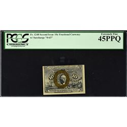 Fr. 1248. Second Issue. 10 Cents. PCGS Currency Extremely Fine 45 PPQ.