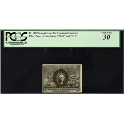 Lot of (2) Second Issue. 25 Cents Frational Currency. PCGS Currency Graded.