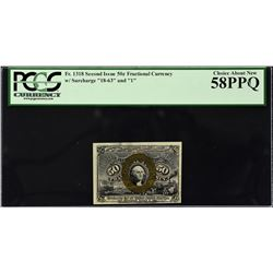 Lot of (3) Second Issue. 50 Cents Frational Currency. PCGS Currency Graded.